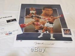 Muhammad Ali Boxing Paluso Autographed Signed 18x24 Litho Psa/dna Holo Coa