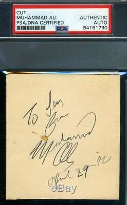 Muhammad Ali PSA DNA Coa Hand Signed 3x5 Index Card Autograph