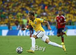 NEYMAR JR Hand Signed Gold Soccer boot + PSA DNA COA BUY GENUINE