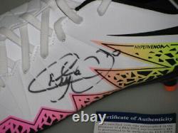NEYMAR JR Hand Signed Soccer boot cleat + PSA DNA COA BUY GENUINE