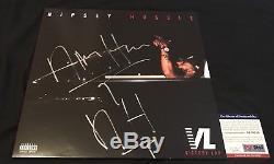 NIPSEY HUSSLE SIGNED AUTOGRAPH VICTORY LAP Vinyl LP PSA/DNA COA