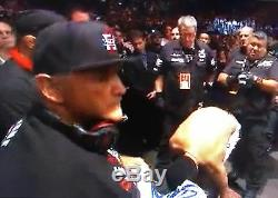 Nate Diaz Signed Cornerman Fight Worn Used Hat PSA/DNA COA UFC on Fox 13 Auto'd