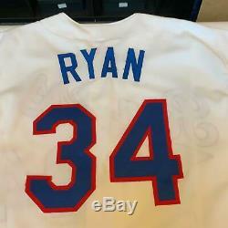 Nolan Ryan Signed Heavily Inscribed STATS Texas Rangers Jersey PSA DNA COA