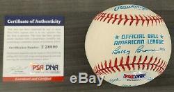 Official MLB OAL Baseball Dual Signed Ken Griffey Jr & Sr PSA/DNA COA Father/Son