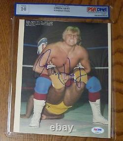 Owen Hart Signed 8x10 Magazine Photo PSA/DNA Gem Mint 10 COA Autographed WWE WWF