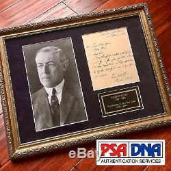 PSA/DNA COA President WOODROW WILSON Scarce Handwritten AUTOGRAPH letter SIGNED