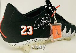 PSG Brazil Barca Neymar Signed Nike Jordan Soccer Cleat Auto PSA DNA ITP COA