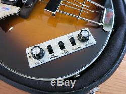 Paul McCartney signed Hofner bass guitar PSA/DNA coa + Proof! Beatles autograph