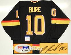 Pavel Bure Signed 1994 Stanley Cup Vancouver Canucks Maska Jersey Psa/dna Coa