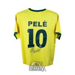 Pele Autographed Brazil Soccer Jersey PSA/DNA COA (B)