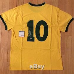 Pele Brazil Soccer Jersey Authentic Signed Auto Psa Dna Coa
