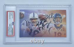 Peyton Manning PSA DNA Coa Signed Auto Autograph Photo Card Colts Broncos HOF