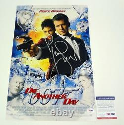 Pierce Brosnan James Bond 007 Signed Die Another Day Movie Poster PSA/DNA COA