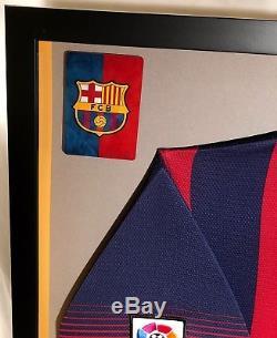 Premium Framed Lionel Messi Autographed / Signed Barcelona Jersey PSA/DNA COA
