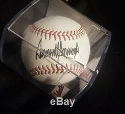 President Donald Trump Signed Autographed Full Name ROMLB Baseball PSA/DNA COA