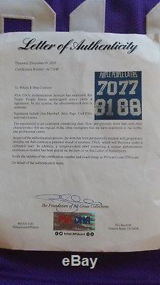 Purple People Eaters Autographed Minnesota Vikings Football Jersey, COA/PSA-DNA