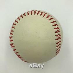 Rare Earl Averill Single Signed Autographed Baseball With PSA DNA COA