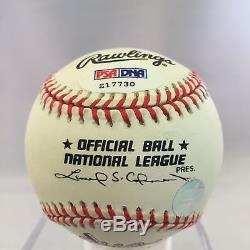 Rare Hank Aaron 715 Home Run 25th Anniversary Baseball Psa Dna Coa #z17730