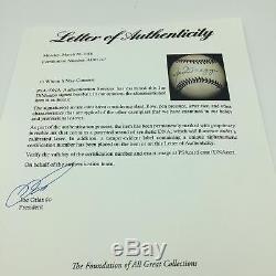 Rare Joe Dimaggio Signed 1995 Official Mickey Mantle Day Baseball PSA DNA COA