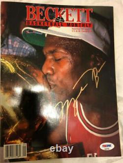 Rare Michael Jordan Gold Signed Beckett Magazine Psa Dna Coa Autograph Auto Uda