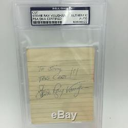 Rare Stevie Ray Vaughan Take Care! Signed Autographed Page PSA DNA COA