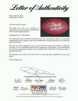 Rare Tom Brady Signed Super Football Inscribed 3X SB Champ PSA DNA & JSA COA