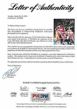 Razor Ramon Bret Hart Lex Luger 123 Kid + Signed 8x10 Photo PSA/DNA COA WWE Auto