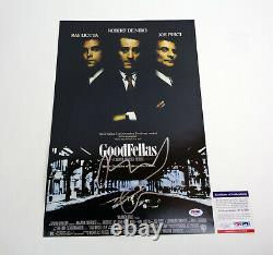 Robert De Niro DeNiro Goodfellas Signed Autograph Movie Poster PSA/DNA COA