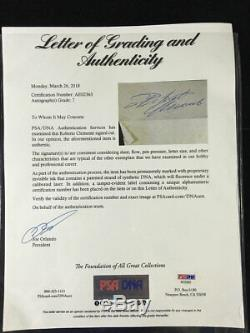 Roberto Clemente Cut Signature Autograph! Psa/dna Full Letter Coa! Beautiful Sig