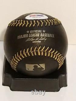 Rod Carew Signed Black Leather Rawlings MLB Baseball SS PSA/DNA COA