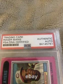 Roger Maris Autographed Topps Card Psa/dna Certified Coa