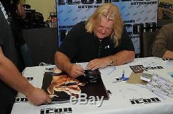 Rowdy Roddy Piper & Greg Valentine Signed Starcade 16x20 Photo PSA/DNA COA Auto