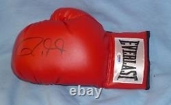 Roy Jones Jr. Signed Auto'd Boxing Glove PSA/DNA COA L Everlast Autograph Red
