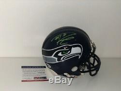 Russell Wilson Signed Seattle Seahawks Mini Helmet Psa/DNA Coa