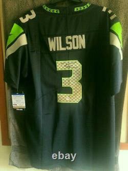Russell Wilson Signed Seattle Seahawks Replica Jersey PSA DNA COA Certified
