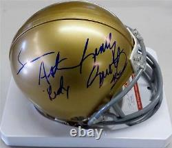 SEAN ASTIN & RUDY RUETTIGER Signed NOTRE DAME Mini Helmet PSA/DNA COA +Pic Proof