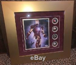STAN LEE signed autographed framed photo display IRON MAN PSA DNA COA Marvel