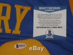 STEPHEN CURRY Hand Signed Jersey + BECKETT COA PSA DNA