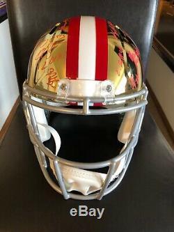 San Francisco 49ers 2019 Team Signed Chrome Full Size Helmet Psa/dna Coa Loa