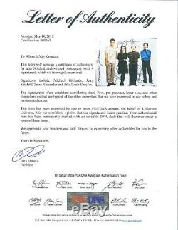 Seinfeld cast signed 11x14 photo PSA DNA COA Jerry Elaine George & Kramer