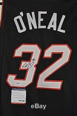 Shaquille Oneal Signed Jersey Miami Heat Basketball #32 Psa Dna Coa