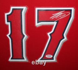 Shohei Ohtani Autographed Los Angeles Angels Baseball Framed Jersey PSA DNA COA