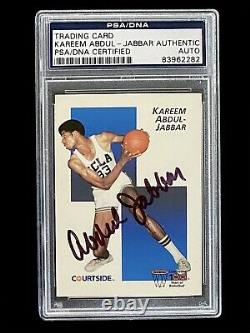 Signed 1991-92 Courtside Kareem Abdul Jabbar Ucla La Lakers Auto Psa/dna Coa Sp
