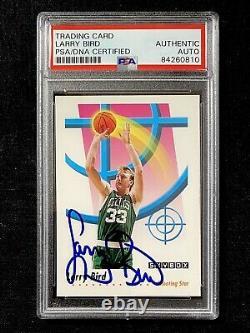 Signed 1991-92 Skybox Larry Bird Boston Celtics Shooting Star Psa/dna Coa Auto