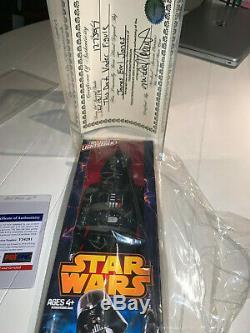 Signed Darth Vader James Earl Jones Star Wars Action Figure PSA/DNA DISNEY +COA