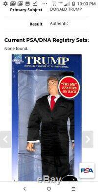 Signed President Donald Trump Autograph 12 Talking Doll PSA/DNA COA
