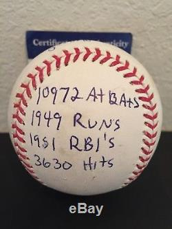 Stan Musial Signed Autographed Stat Ball Heavily Inscribed PSA/DNA COA STL HOF