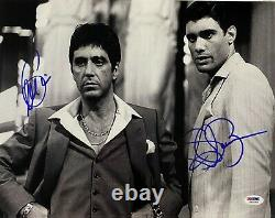 Steven Bauer + Al Pacino Signed Scarface 11x14 Photo PSA DNA ITP COA