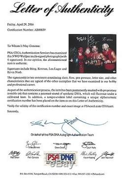 Sting & Kevin Nash Konnan Lex Luger NWO Signed WWE 16x20 Photo PSA/DNA COA WCW