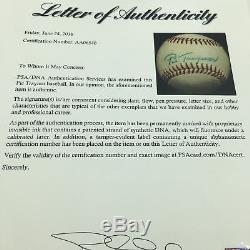 Stunning Pie Traynor Single Signed Autographed Baseball Pirates HOF PSA DNA COA